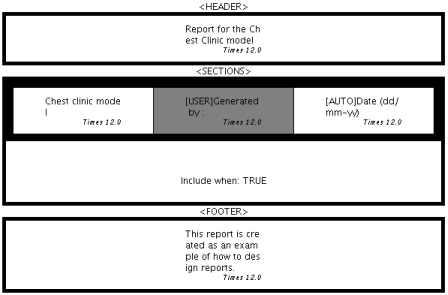 Figure 5: The report layout after completing the steps above